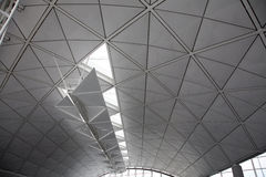Large white ceiling. Large unusual modern white ceiling stock photos