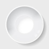 Large white ceramic plate, with a deep-bottomed Stock Images