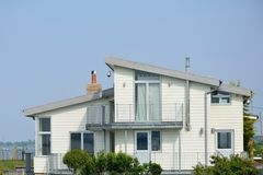 Large white coastal House Stock Photography