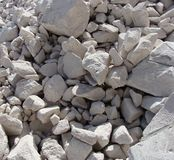 Large white concrete chunks stacked in a pile Stock Photography
