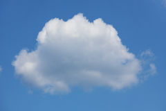 Large white cumulus cloud on the blue sky Royalty Free Stock Photography
