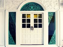 A Large White Door Royalty Free Stock Photo