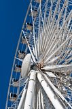 Large White Ferris Wheel with Enclosed Cars Stock Photo