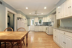 Large white kitchen Stock Images