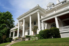 Large white mansion with columns Royalty Free Stock Photography