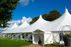 Large white party tent. Party events wedding celebration banquet tent Royalty Free Stock Image