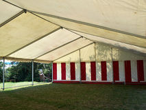 Large white party tent. Party events wedding celebration banquet tent Stock Photos