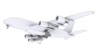 Large white plane Royalty Free Stock Images