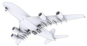 Large white plane Royalty Free Stock Photography