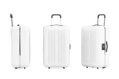 Large White Polycarbonate Suitcases Royalty Free Stock Photography