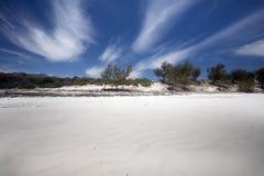 Large white sand beach, Amoronia orange bay, Indian Ocean, north of Madagascar Royalty Free Stock Photo