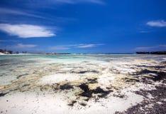 Large white sand beach, Amoronia orange bay, Indian Ocean, north of Madagascar Stock Photo