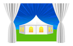 Large white tent Royalty Free Stock Images
