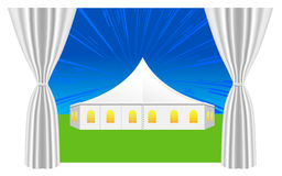 Large white tent Stock Photo