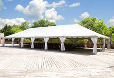 Large white tent Royalty Free Stock Image