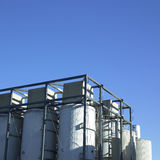 Large white vats Royalty Free Stock Photo