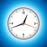Large white wall clock Stock Image