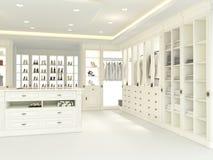 Large white wardrobe. 3d rendering Royalty Free Stock Photos