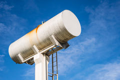 Large white water storage tank. Royalty Free Stock Photography