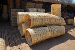 Large wicker baskets Royalty Free Stock Photography