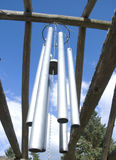 Large wind chimes Stock Image