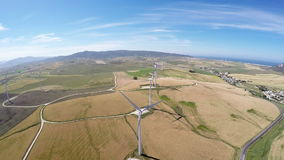 Large wind farm,aerial view stock video footage