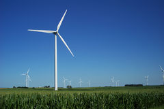 Large Wind Farm Stock Images