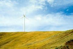 Large Wind Turbine Farms Stock Photo