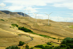 Large Wind Turbine Farms Stock Photography