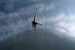 Wind turbine. Large wind turbine producing electricity Stock Photos