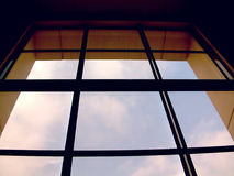 Large window. Large airport window Stock Images