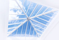Large window on the ceiling Royalty Free Stock Photos