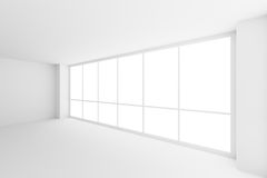 Large window in empty white business office room. Business architecture white colorless office room interior - large window in empty white business office room Royalty Free Illustration