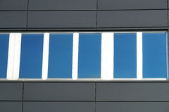 Large window of industrial building close up Stock Photo