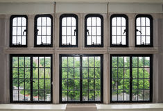 Large window with many panes Stock Images