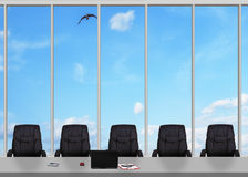 Large window in office Stock Photos