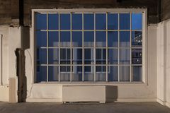 Large window / studio renovation Royalty Free Stock Photos