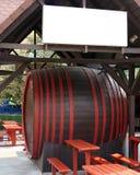 Large wine barrel. Stock Photo