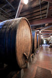 Large Wine Barrels. Used for fermentation of grapes Stock Photos