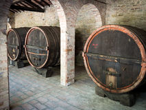 Large wine barrels Royalty Free Stock Photography