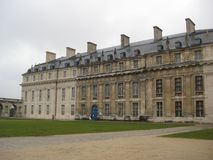 A large wing of the Val-de-Marne castle, Paris royalty free stock images
