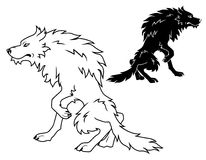 Large Wolf vector illustration