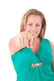 Large Woman Royalty Free Stock Photography