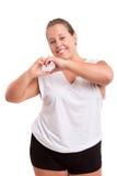 Large Woman exercising Stock Photos