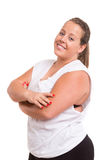 Large Woman exercising Stock Image