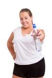 Large Woman exercising Royalty Free Stock Photo