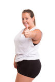 Large Woman exercising Stock Photography