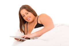 Large woman relaxing Royalty Free Stock Image