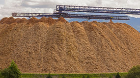 Large wood chip processing facility Stock Image