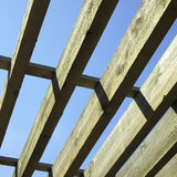 Large wooden beams Stock Photos